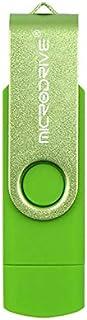 QGT USB Flash Drives 16GB USB 2.0 Phone and Computer Dual-use Rotary OTG Metal U Disk (Black) (Color : Green)