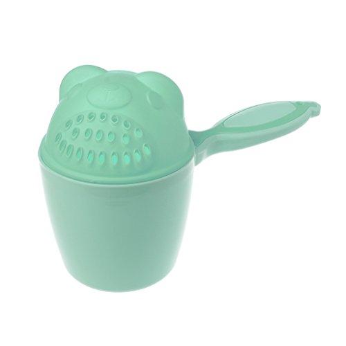 ATATMOUNT Gorro de baño para bebés Niños lavando el Cabello Champú Taza de Dibujos Animados Cucharas de Ducha para niños