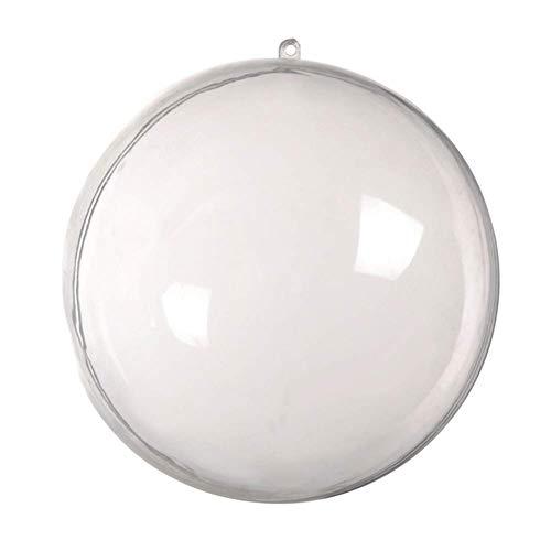 iSunday 5 Pz Plastica Trasparente Natale Palline Bagattelle Sfera da Riempire Albero di Natale Ornamento Trasparente - 16Cm