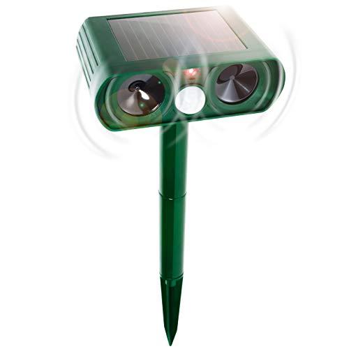 Gardigo Solar Ultraschall Tierabwehr mit Bewegungssensor I Katzenschreck, Hundeschreck, Marderabwehr und Vogelabwehr