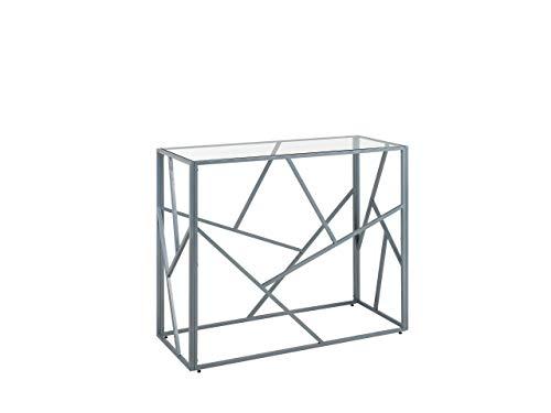 Beliani Eleganter Konsolentisch Glas Silber Orland