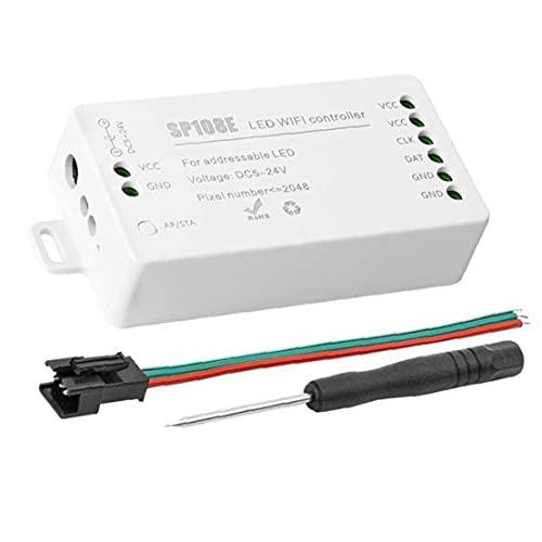 Naisicatar LED WiFi-styrenhet WS2811 WS2812B LED-remsa ljusmodul universell app trådlös kontroll SP108E 2048 pixlar
