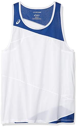 ASICS Gunlap Singlet para hombre, Hombre, Camiseta de tirantes anchos, #REF!, Blanco/Royal, XXL