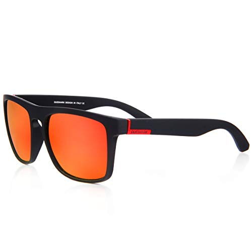 Queshark Polarisierte Sonnenbrille Herren Damen Luxus Retro Sonnenbrille Sport im Freien Golf Radfahren Angeln Wandern Eyewear Sonnenbrille