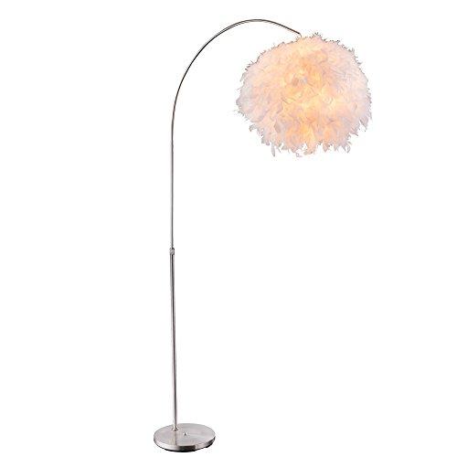 Feder-Stehlampe Leuchte Höhenverstellbar Design Beleuchtung Bogen-Lampe Wohn- Schlaf- Zimmer