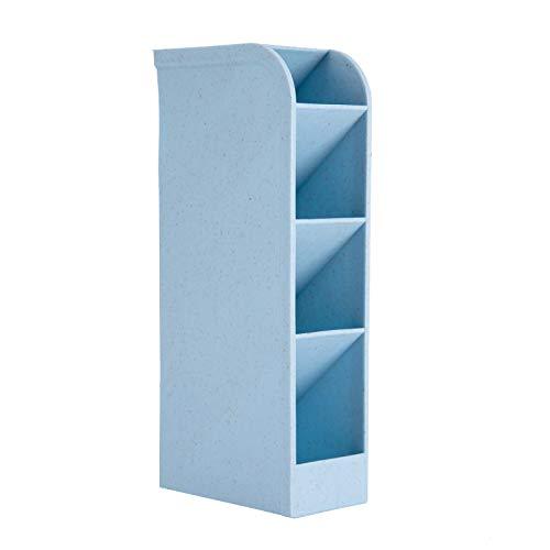 Multi-Functional Large Size Desk Pencil Organizer - PenPencil Marker Holder Storage Box for Office School Home Supply - Blue