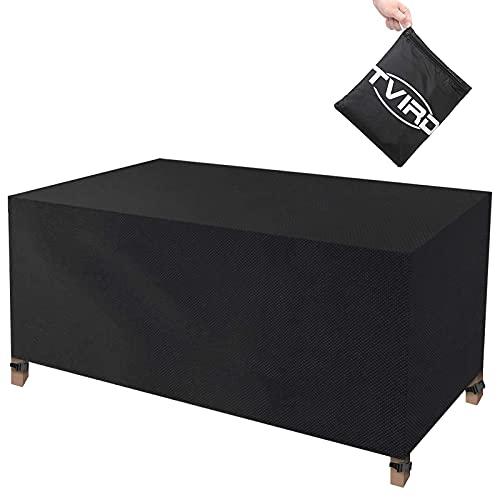 Tvird Funda para Muebles Impermeable,Funda Mesa Jardin,Cubierta para Exterior Funda Protectora Muebles Mesas Sillas Sofás Exterior 420D Oxford Impermeables Anti-Viento/UV(170 x 94 x 70CM)-Negro 🔥