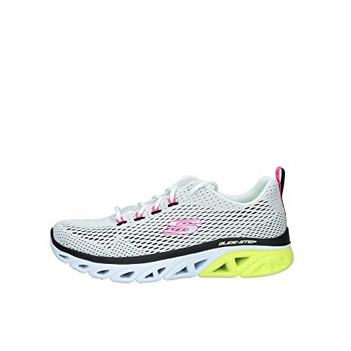 Skechers 149550/WBKY Glide-Step Sport-Sweeter Days Damen Sneaker Sportschuhe Turnschuhe weiß/grau/gelb/pink, Größe:40, Farbe:Weiß