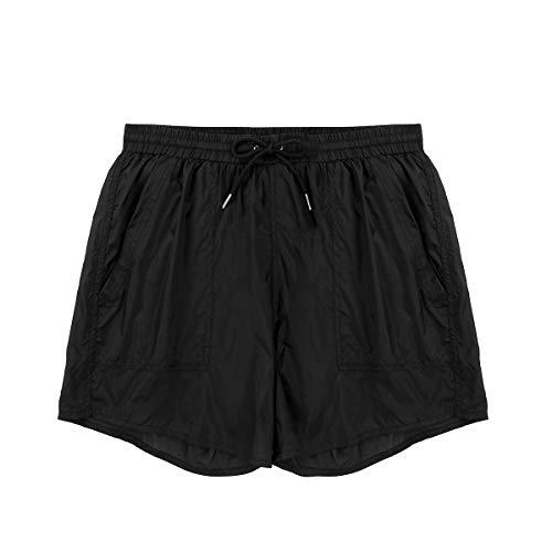 YiZYiF Herren Boxershorts Mesh Lange Bein Boxer Shorts Unterwäsche Männer Unterhose Trunks mit Transparent Effekt M-XL (Medium, B Schwarz Lange)