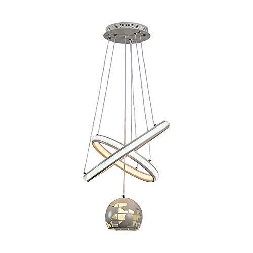 Hancoc Moderno LED Alien Earth Ball White Iron + Silicone Dormitorio Pasillo Sala de Estar Restaurante Estudio Lámpara/Lámpara de Techo