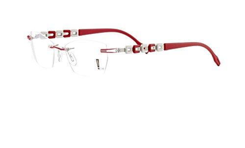 Switch it! Garnitur - Wechselbügel mit quadratischen Mustern in verschiedenen Farben (3193: rot-weiß-silber)
