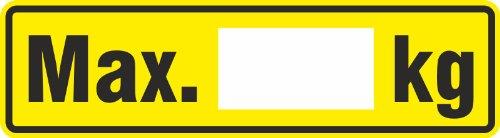 Aufkleber/Etikett maximale Traglast Regale 4 x 14,5cm Regalbelastungsaufkleber 5 Stück