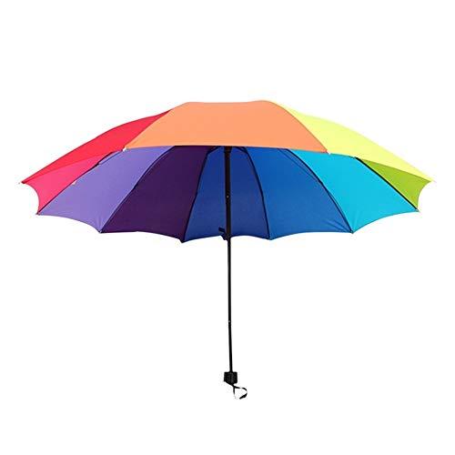 Paraguas 10 Colores Parasol del Arco Iris de Las Mujeres Big Three...