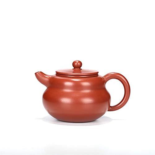 MDYHJDHYQ Teteras Manual de Mineral Tetera Zhu Ni DA Hong Pao del té de la Tetera Soporte de la Calabaza (Color : Purple mud)