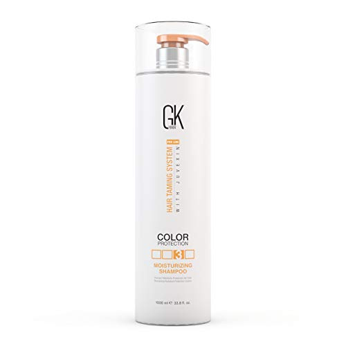 Global Keratin GK Hair Moisturizing Shampoo for Color Treated Dry Damage Curly Frizzy Thinning Hair | Organic Paraben Gluten Sulfate Free All Hair Types for Men and Women 33.8fl.oz