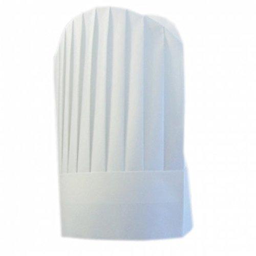 Garcia de Pou 10 Unit de Chef Chapeaux Ronds Dessus en boîte, 31 cm, Airlaid, Blanc, 31 x 30 x 30 cm