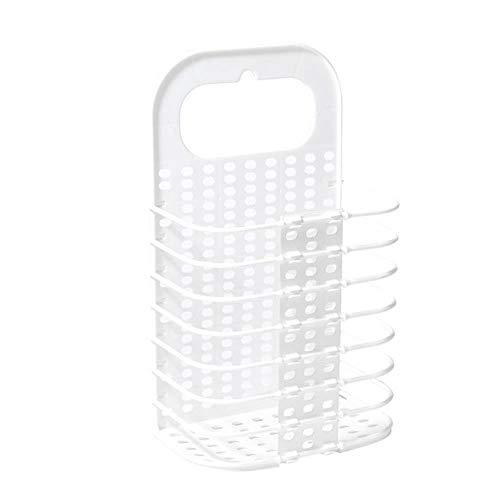 LCZMQRCLMZRQ Opvouwbare huishoudelijke vuile wasmand plastic kledingopbergmand wandgemonteerde wasemmer opvouwbare speelgoedopbergdoos badkameraccessoires, wit, XL
