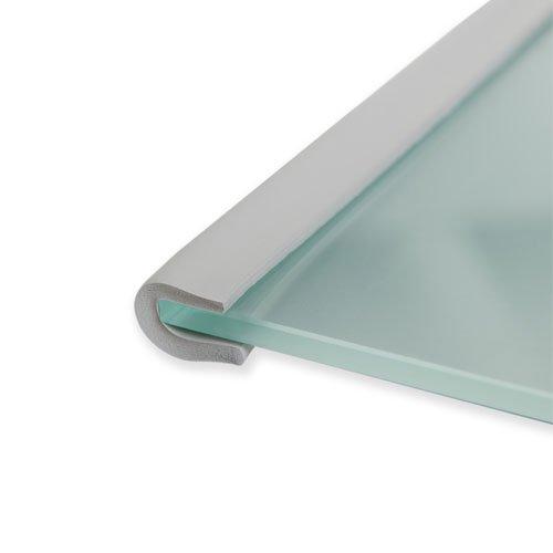 Hauck Pad Me 2 Eckenschutz und Kantenschutz 2 Meter lang, Kindersicherheit und Heimsicherheit für Möbel und Tische, Schaumstoff Kantenschutz, grau