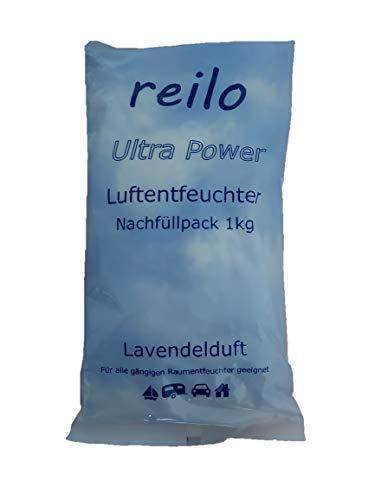 """10x 1kg""""Lavendelduft"""" Luftentfeuchter Granulat (Calciumchlorid) im Vliesbeutel, Nachfüllpack für Raumentfeuchter"""