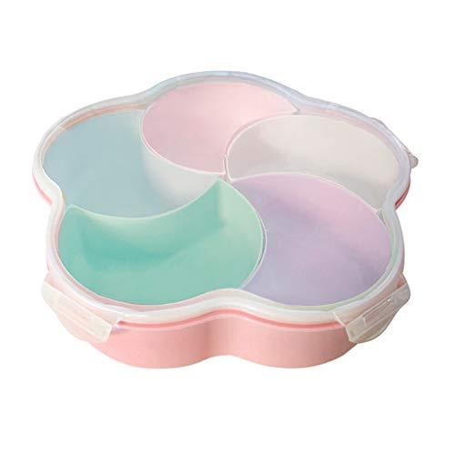 WT-DDJJK Plato de bocadillos, Platos de bocadillos multifunción Caja de Dulces con Tapa Plato de Frutas de Gran Capacidad para el hogar