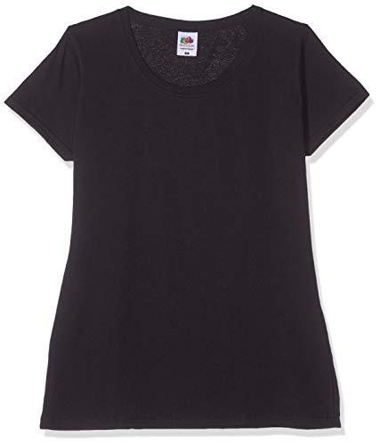 Fruit of the Loom Lady-fit Original tee, 3 Pack Camiseta, Negro (Black 36), 38 (Talla del Fabricante: Large) (Pack de 3) para Mujer