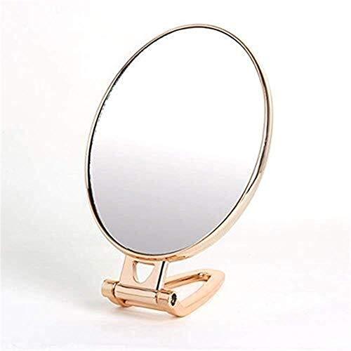 C-J-Xin Miroir multifonction portable, Hommes à main Miroir grossissant Miroir Voyage en métal pliant Petit bureau miroir de maquillage 29,5 * 13cm Miroirs à main pour salons de coiffure