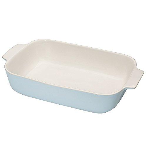 Küchenprofi 710031336 Plat de cuisson Céramique Bleu Clair 36 x 15 x 10 cm