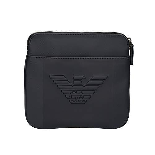 Armani Uomo Borsa Messenger con Logo Blu MOD. ARMY4M177 YFE6J