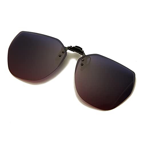ffniwo KKKKKK Clip en la Lente polarizada Flip Up para Gafas Gafas de Sol Que conducen la Lente de la visión Nocturna (Frame Color, Lenses Color : 08)