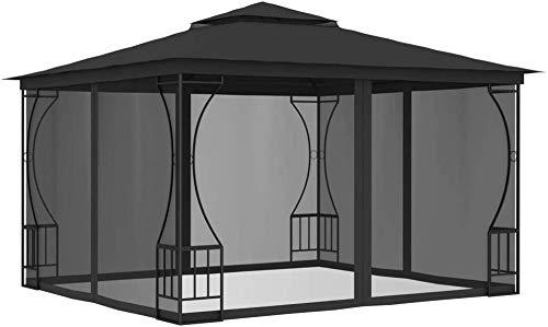 Gazebo anti-UV, tiendas de campaña con ventanas laterales,Grey-300x400x265 cm