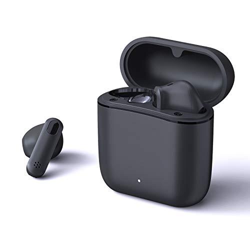 Bluetooth Kopfhörer, Otium Bluetooth Kopfhörer In Ear TWS Echte Kabellose Ohrhörer mit Ladekästchen,Bluetooth 5.0 Headsets für Handy/Sport/Laufen/Android/IOS,5-stündige Spielzeit (Schwarz)