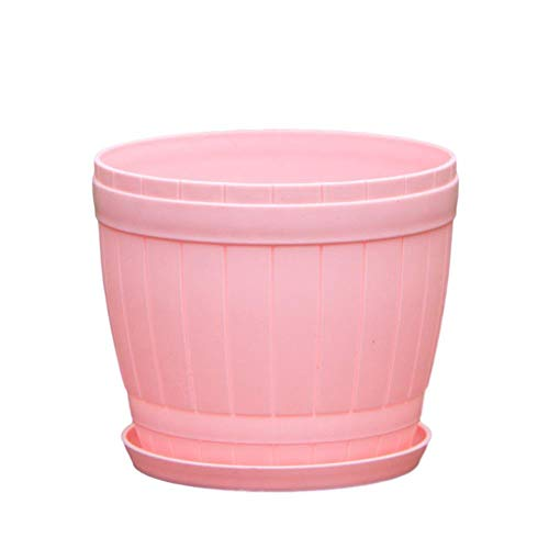 Heoolstranger Plastic flower pot, light and durable nursery seedlings pots, flower plant container, flower pot frosted - small holes at the bottom, S/M/L.