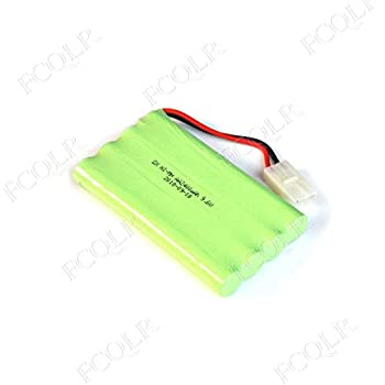 FCQLR Compatible for 2PCS 2400mah Ni-Mh 4.8V AA Rechargeable Battery Pack AA Cell for RC Car Helicopter Toys led Light Cordless Phone SM Plug B