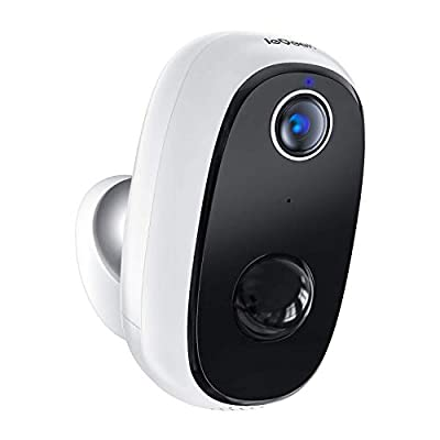 Wireless Outdoor Security Camera, Rechargeable Battery Powered, WiFi Home Indoor Surveillance with 1080p, PIR Motion Detection, Night Vision, 2-Way Audio, Cloud & MicroSD Card Storage, Smartphone App