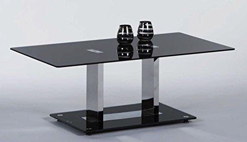 Couchtisch Black 110 x 60 cm Glas schwarz/Chrom
