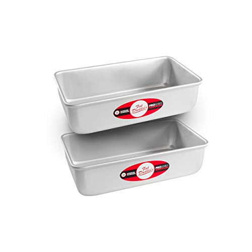 Fat Daddio's Bread Pan Anodized Aluminum, 9 x 5 x 2.75 Inch, Set of 2, Silver