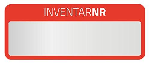 AVERY Zweckform 6907 Polyester Inventaretiketten (stark selbstklebend, strapazierbar, Kleinformat, 50x20 mm, 50 Aufkleber auf 10 Blatt) silber/rot