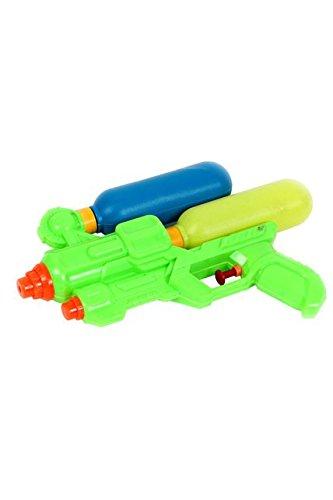 BLUESKY Pistola ad acqua a pompa con doppio serbatoio – Multicolore – 48076 – 23 cm – Gioco di attività all'aperto dai 3 anni