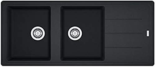 Negro, 2 senos, 340 x 420 mm, 20 cm, 340 x 420 mm, 20 cm Franke Boston BFG 621 Fregadero