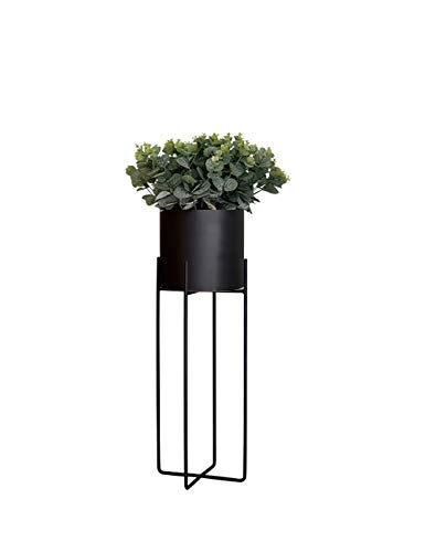 Jiniriiuirhinibdsbu Punch-Free, Nordic Balkon Grünpflanze Regal Vertikal Schmiedeeisen Modern Minimalist Kreatives Wohnzimmer Innen Dekorative Blumenständer (Farbe : SCHWARZ, größe : Trumpet)
