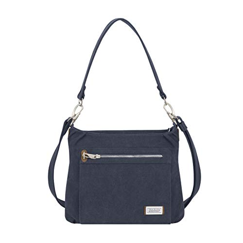 Travelon Anti-Theft Heritage Hobo Bag, Indigo, 11.5 X 9.5 X 3