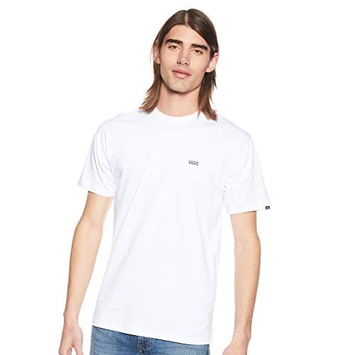 Vans Left Chest Logo Tee T-Shirt Uomo, Bianco (White), Medium (93 - 102 cm)