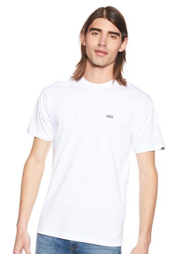 Vans Left Chest Logo Tee T-Shirt Uomo, Bianco (White), Large (103 - 112 cm)