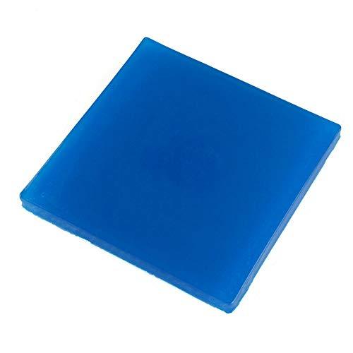 Almohadilla de Gel para Asiento de Motocicleta,MoreChoice Absorción de Impactos, Reduce la Fatiga, Cómoda y Suave,Cojín de Alfombrillas de Gel, Accesorios de Color Azul Fresco (25 x 25 x 2 cm)