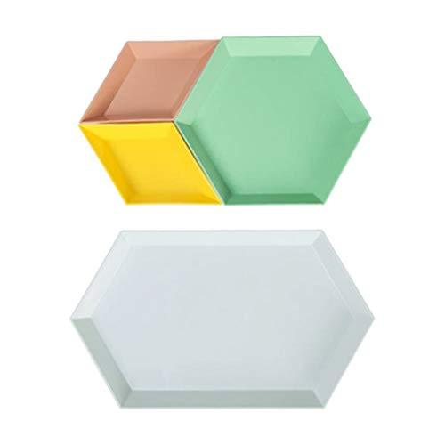 LIYG Colorido Creativo Geométrico Geométrico Fruta Frutal Placa de Fruta