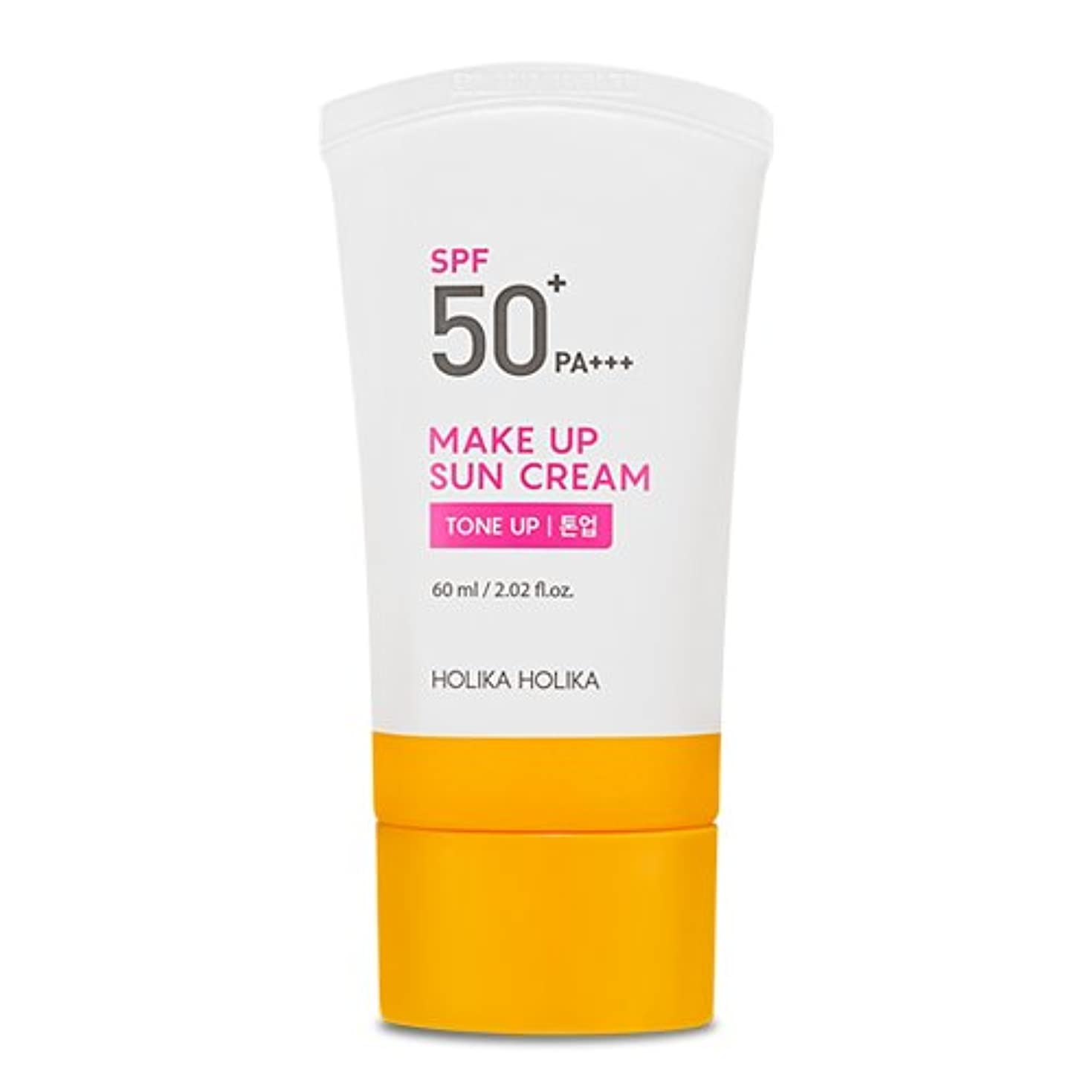 テニス休憩海洋の[2018]ホリカホリカ メイクアップ 日焼け止めクリーム/UVケア?Holika Holika Make Up Sun Cream SPF50+ PA+++ 60ml [並行輸入品]