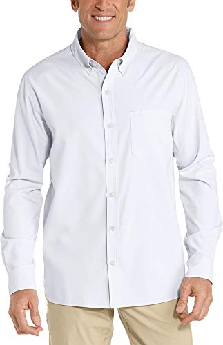 Coolibar Herren UV-Schutz Anzugshemd, Weiß, XXL