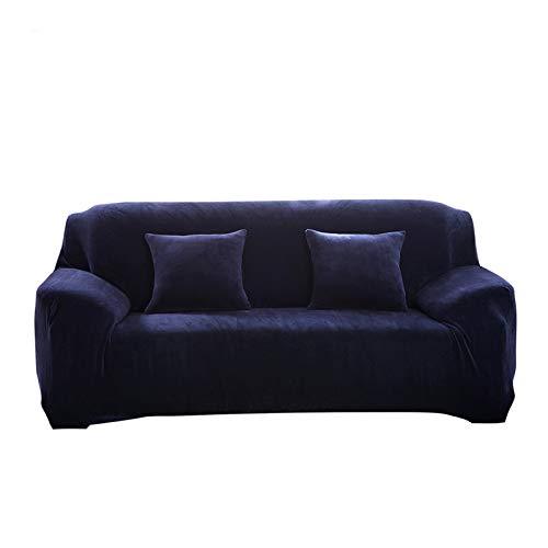 MINGPINHUIUS Fundas de Sofa, Monocromo Cubierta de Sofa de 1,2,3,4 Asientos, Sofa Cover de Felpa Gruesa Protección de Muebles + Una...