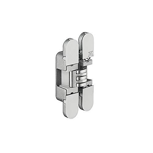 JUVA Scharnierband universal Tür-Scharnier Zubehör Ersatz-Türband montieren - H1962 | nur für Drehtür-Anwendungen | Stahl verchromt/Kunststoff grau | 180° | 1 Stück