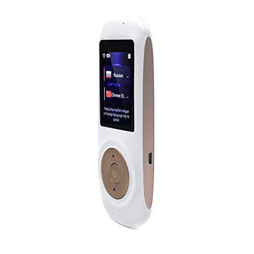 Tradutor Voz Portátil Tempo Real 52 Idiomas Tradução Mútua Conexão Wi-fi Branco Tela Touch Screen Alta Definição Compacto